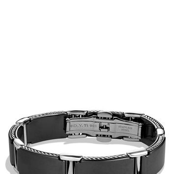 Men's David Yurman 'Streamline' Link Bracelet in Black - Black Titanium