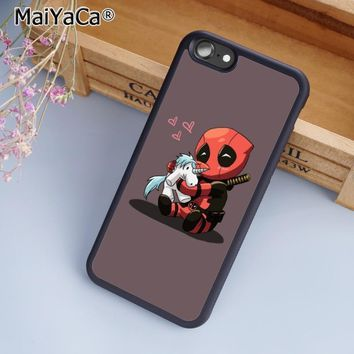 Deadpool Dead pool Taco MaiYaCa Funny  unicorn Capa Phone Case Cover For iPhone 4 5 5s SE 6 6s 7 8 plus 10 X Samsung Galaxy S6 S7 S8 edge note 8 AT_70_6