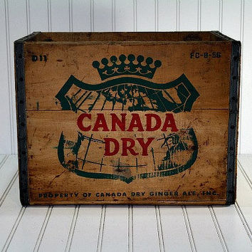 Vintage Wood Crate / Wooden Box  / Canada Dry Wood by HuntandFound