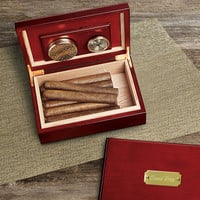 Personalized Cigar Humidor - Custom Engraved Humidor - Cigar Humidor - Gifts for Him - Groomsmen Gifts - GC151