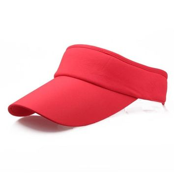 Sports Hat Cap trendy  Hot selling Men Women Sport Headband Classic Sun Sports Visor Hat Cap sun hats for women 7.3 KO_16_1
