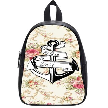 Nautical Anchor I Refuse To Sink School Backpack Large