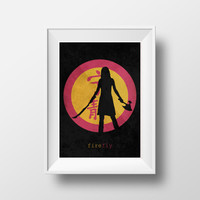 Firefly silhouette of River Tam, Serenity, Chinese