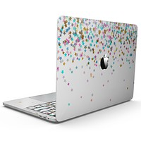Multicolor Birthday Stars Over White  - MacBook Pro with Touch Bar Skin Kit