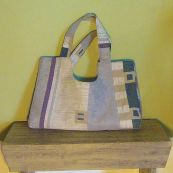 Striped Geometric Tote/Bag/Purse