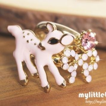 Pink Ribbon Bambi (3 rings)