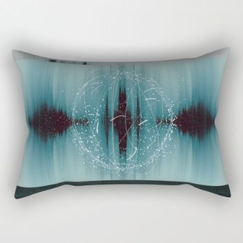 Cosmic Waveform Rectangular Pillow by Ducky B