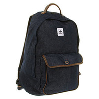 Adidas BACKPACK CAMPUS DENIM DARK INDIGO STRONG BROWN Shoes - Accessories Bags Shoes - Office Shoes