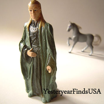 Celeborn toy elven from fantasy movie,  whimsical toy, cake topper, Tolkien,The Fellowship of the Ring, wedding, Lord of the Rings, diorama.