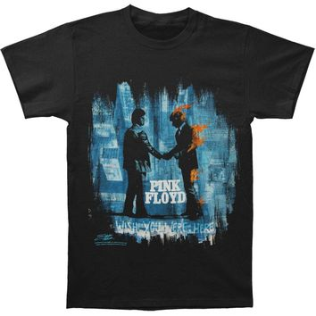 "Pink Floyd Men's  Stephen Fishwick Men's ""Wish You Were Here Black"" T-shirt Black"
