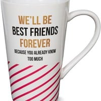 We'll Be Best Friends Forever Because you already know too much Latte Mug