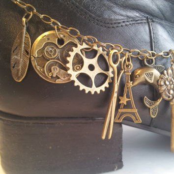 Steampunk style bling for your boots!