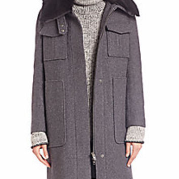 Theory - Yvoia Bolton Fur-Collar Coat - Saks Fifth Avenue Mobile