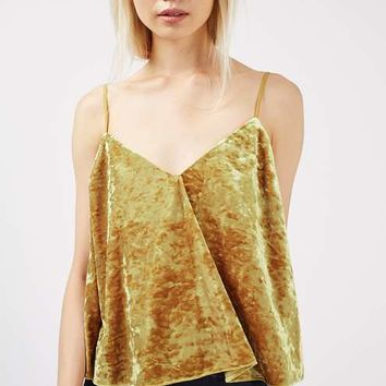 Velvet Swing Ochre Cami Top - Tops - Clothing