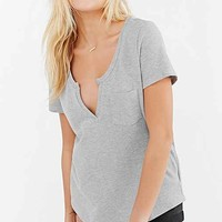 BDG Pique Notch Neck Tee-