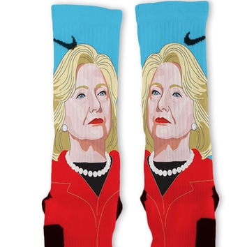 Hillary Clinton Custom Nike Elite Socks