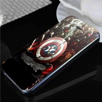 Captain America The Avengers Age of Ultron | custom wallet case for iphone 4/4s 5 5s 5c 6 6plus 7 case and samsung galaxy s3 s4 s5 s6 case