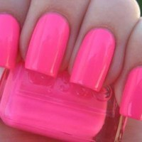 ONE Full Sized Essie Pink Parka !!! Rave Reviews Summer Barbie Pink Pink! Rare