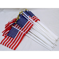 Small USA Flag 4th of July Independence Day accessories 50 pcs pack