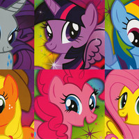 My Little Pony Pop Art Cartoon Poster 24x36