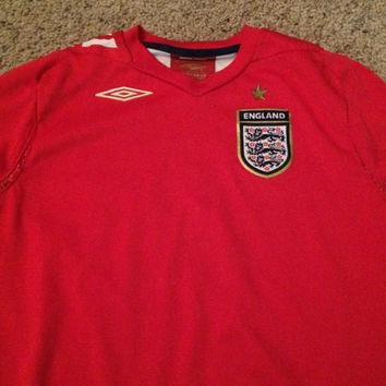 Sale!! Vintage Umbro England National team Home 2006/2008 Long sleeve Soccer jersey fo