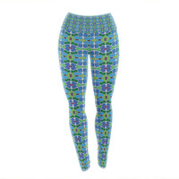 "Empire Ruhl ""Sea Glass"" Yoga Leggings"