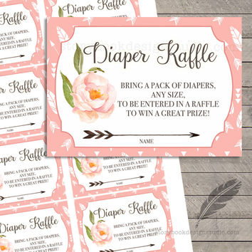 Oh Deer Baby Shower Diaper Raffle Tickets