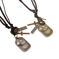 Shiny Jewelry New Arrival Gift Accessory Stylish Strong Character Hats Leather Vintage Men Pendant Necklace [6526585411]