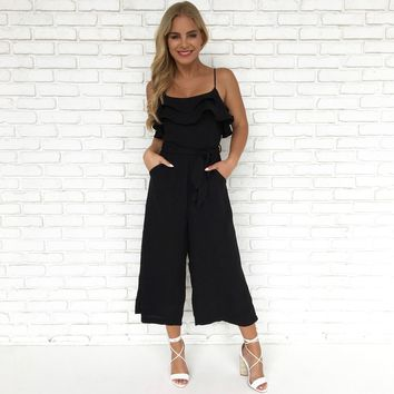Amalfi Coast Jumpsuit in Black