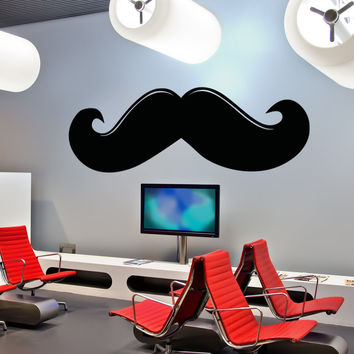 Vinyl Wall Decal Sticker Mustache #OS_AA1309