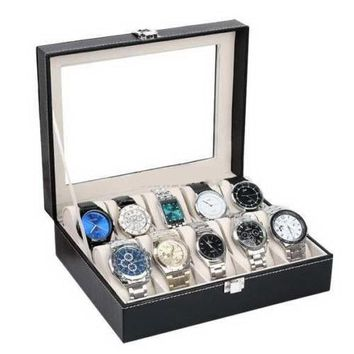 10 Slots Leather Watch Display Case Box