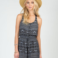Tribal Crochet Back Romper