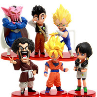 Super Deformed Dragon Ball Z Dabura Son Gohan Videl Action Figure figures toys set of 6