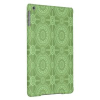 Vintage Geometric Pattern in Green Cover For iPad Air
