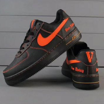 Nike Air Force 1 Jade AF1 Women Men Running Sport Casual Shoes Sneakers Air force blac