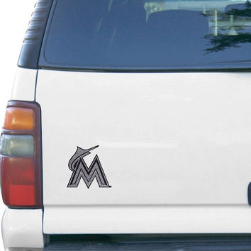 Miami Marlins Bling Emblem Car Decal - http://www.shareasale.com/m-pr.cfm?merchantID=7124&userID=1042934&productID=540329544 / Miami Marlins