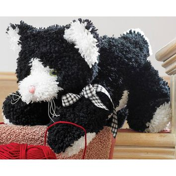 Kitty Huggables Stuffed Toy Latch Hook Kit 12""