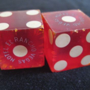 Pair of El Rancho Hotel dice by VintageRenude on Etsy