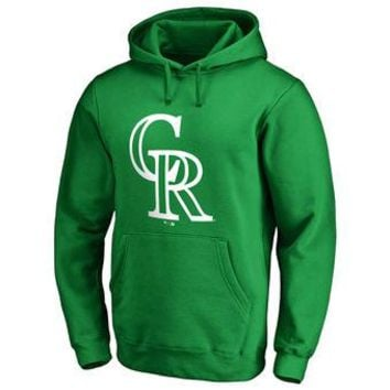 Colorado Rockies MLB Green Fastball Fleece Pullover Hoodie