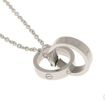 ESBONAY Cartier Woman Fashion LOVE Plated Necklace For Best Gift