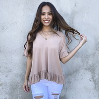 Very Into You Ruffle Blouse