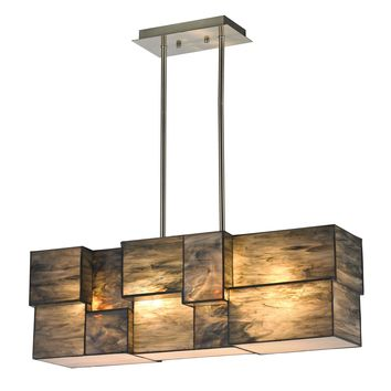 72073-4 Cubist 4 Light Chandelier In Brushed Nickel - Free Shipping!