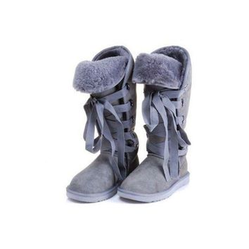 DCCKIN2 Ugg Boots Black Friday Sale Roxy Tall 5818 Light Grey For Women 111 67