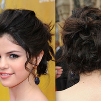 zoom views image gallery: prom hairstyles messy side bun
