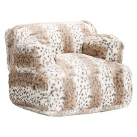 Snow Leopard Faux Fur Eco Lounger