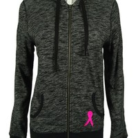 Ideology Women's Breast Cancer Research Zip Front Hoodie