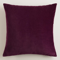 Potent Purple Velvet Throw Pillows - World Market