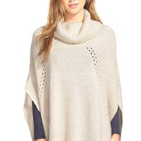 Women's LAmade 'Sage' Knit Turtleneck Poncho,