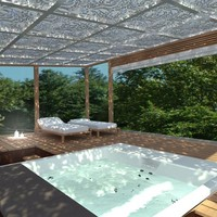 Steel pergola SPA Modern Outdoor Design Collection by CAGIS