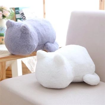 Plush Cushions Pillow Cute Cartoon Cat Shape Back Shadow Cat Kawaii Filled Animal Pillow Toys Home Decor Chrismas Gifts
